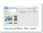 jQuery Lightbox Mac version - Thumnails Tab