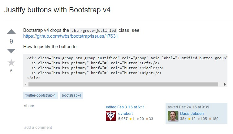 Establish buttons  along with Bootstrap v4
