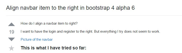 Adjust navbar  thing to the right in Bootstrap 4 alpha 6