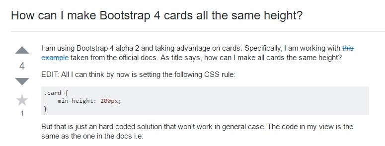 Insights on how can we form Bootstrap 4 cards  all the same tallness?