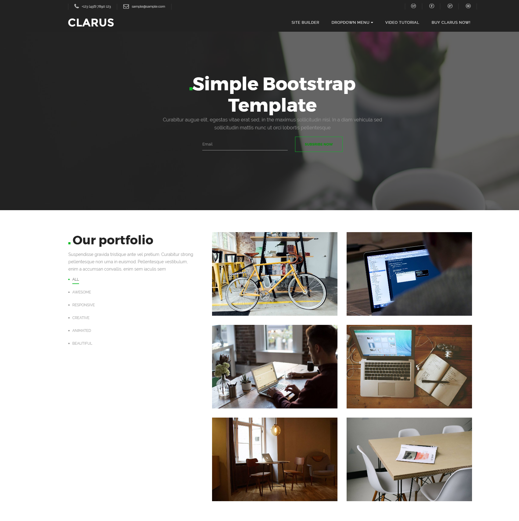 Free Download Bootstrap Simple Templates