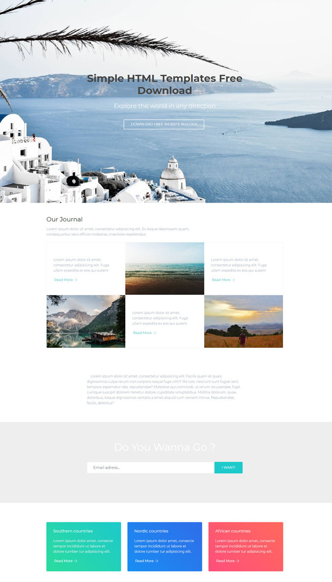 Travel Website Template