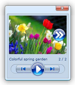 web floating dialog Photo Slideshow Jquery