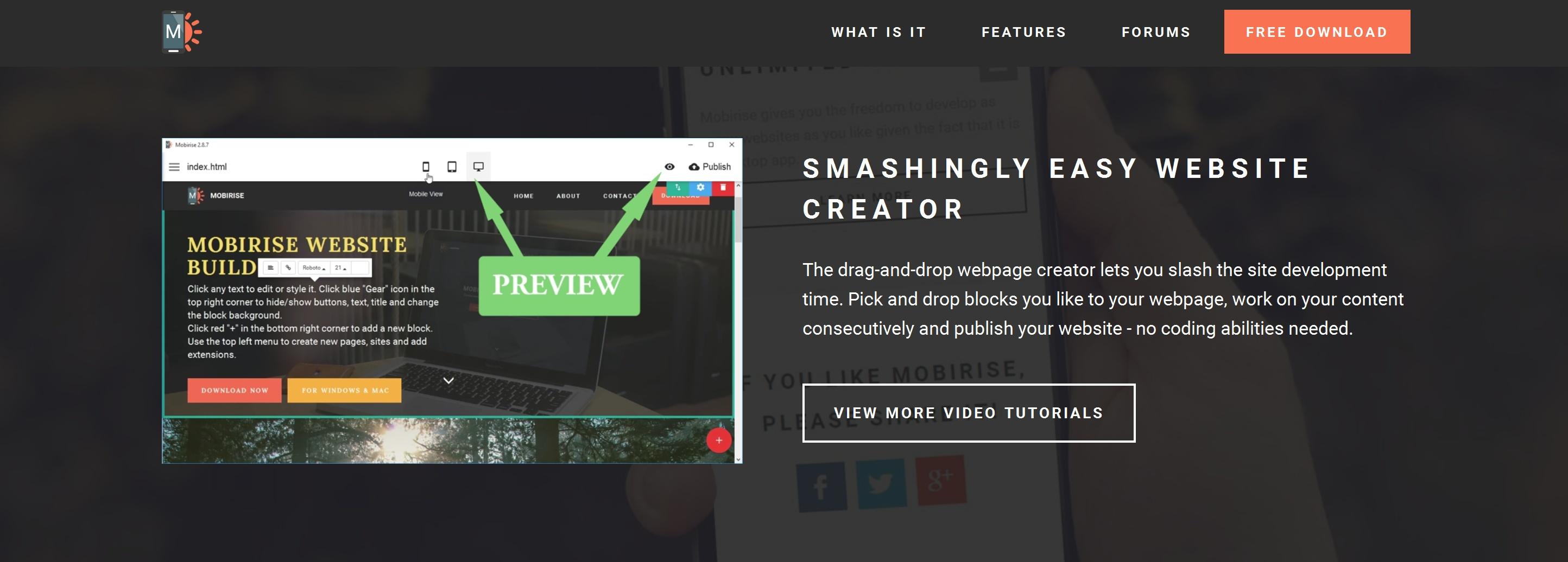 Free HTML5 Web Page  Creator