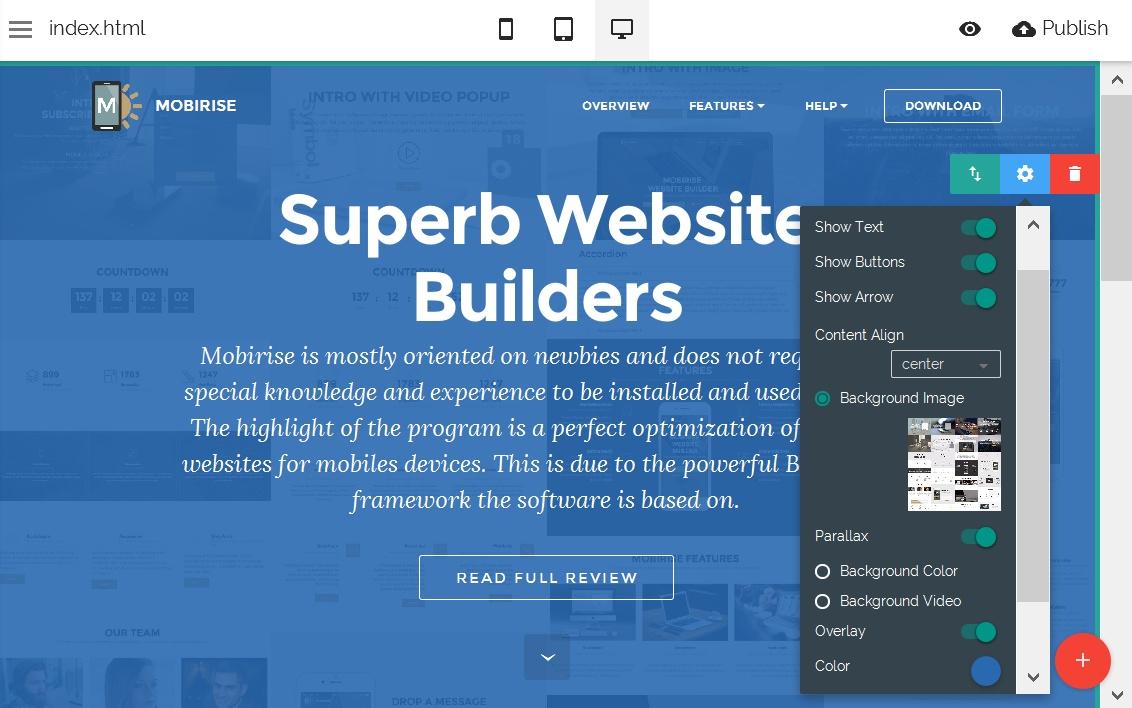 WYSIWYG Site Editor