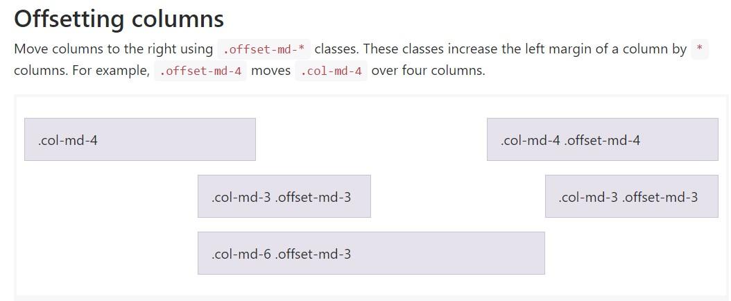 Bootstrap offset  main documentation