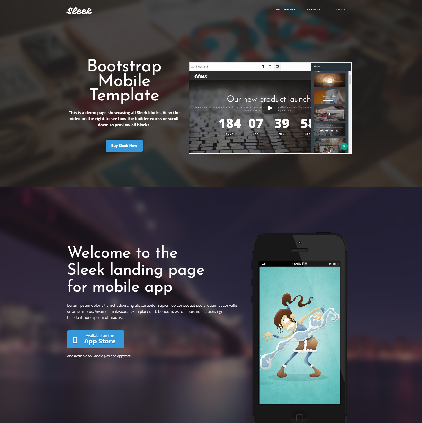 CSS3 Bootstrap Mobile Templates