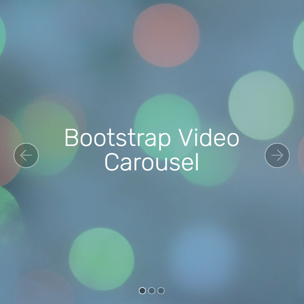 HTML5 Bootstrap Image Carousel