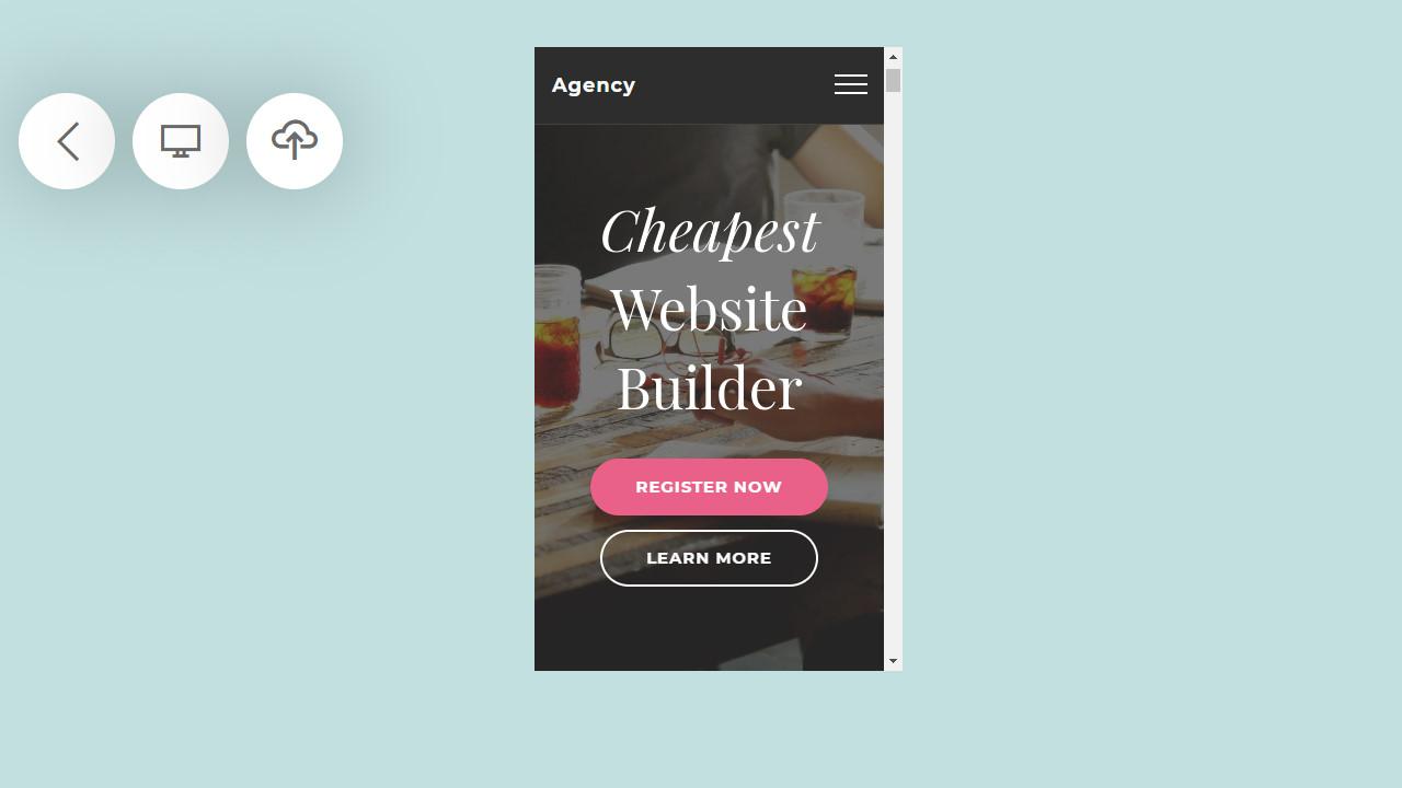 startup website generator